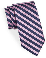 Black Brown 1826 Silk Diagonal Striped Tie