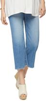 A Pea in the Pod Joe&'s Jeans Secret Fit Belly Fray Hem Wide Leg Maternity Crop Jean