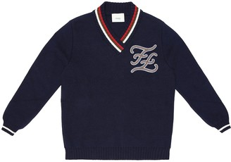 Fendi Kids Cotton and cashmere sweater