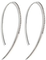 Lana Fatale Hooked on Hoops Diamond Earrings in White Gold