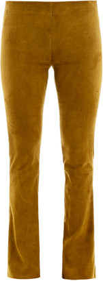 Drome SUEDE TROUSERS M Yellow, Green Leather