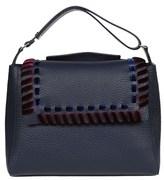Orciani Women's Blue Leather Shoulder Bag.