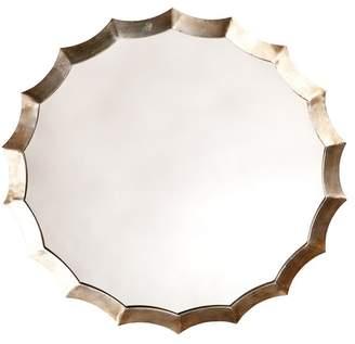 Shine Studio Round Scalloped Mirror