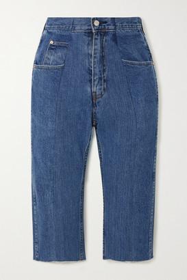 E.L.V. Denim The Twin Denim Shorts - Mid denim