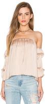 Bardot Caught Sleeve Bustier Top