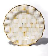 Mackenzie Childs MacKenzie-Childs Parchment Check Dessert Plate