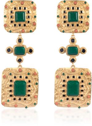 VALERE Ocean Gold-Plated Multi-Stone Earrings