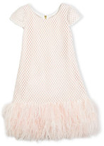 Zoë Ltd Cap-Sleeve Netted Shift Dress, Pink, Size 7-16