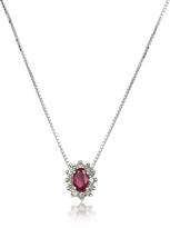 Tagliamonte Incanto Royale Diamond and Ruby Drop 18K Gold Necklace