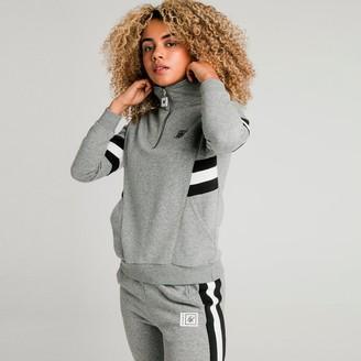 SikSilk Women's Quarter-Zip Fleece Top