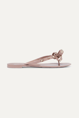 Valentino Garavani The Rockstud Rubber Sandals - Antique rose