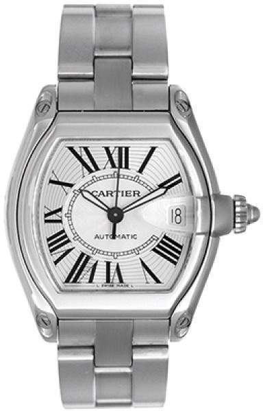 Cartier Roadster W62025V3 Stainless Steel Silver Dial Automatic 38mm Men's Watch