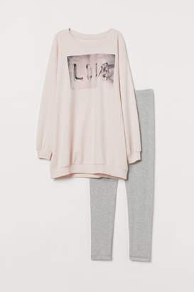H&M Pyjama top and leggings