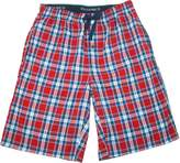 Hanes Men's Cotton Madras Drawstring Sleep Pajama Shorts, Xlarge