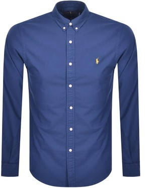 Ralph Lauren Oxford Long Sleeved Shirt Blue