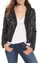 Blank NYC Women's Blanknyc Studded Faux Leather Moto Jacket