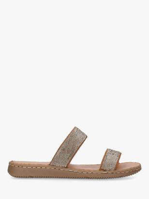 Carvela Comfort Shake Suede Embellished Flat Sandals