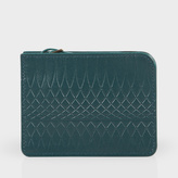 Paul Smith No.9 - Petrol Leather Wallet Pouch