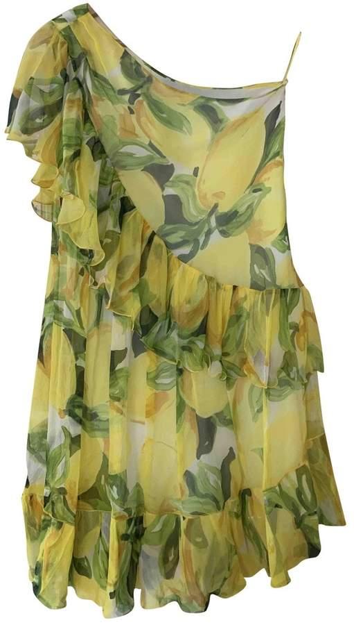 Moschino Cheap & Chic Moschino Cheap And Chic Yellow Silk Dress for Women