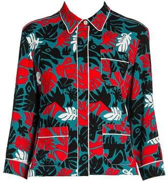 Marni Abstract Leaves Pajama Jacket Top