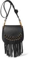 Chloé Hudson Small Tasseled Leather Shoulder Bag - Black