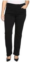 NYDJ Plus Size - Plus Size Marilyn Straight Jeans in Luxury Touch in Black Women's Jeans