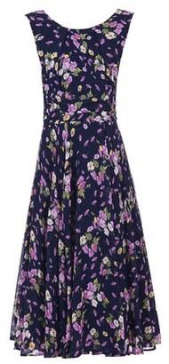 Dorothy Perkins Womens Jolie Moi Navy Floral Print Chiffon Midi Dress