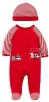 Little Me Infant Boys' First Christmas Train Footie & Hat Set - Sizes 3-9 Months