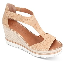 Gentle Souls by Kenneth Cole Women's Elyssa T-Strap Espadrille Wedge Sandals