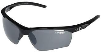 Tifosi Optics Vero (Gloss Black Frame Smoke/AC Red/Clear Lenses) Athletic Performance Sport Sunglasses