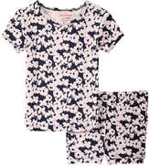 Joe Fresh Toddler Girls' Print Sleep Set, JF Midnight Blue (Size 2)