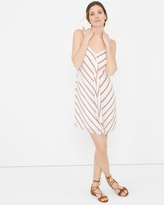 White House Black Market Ruffle-Front Stripe Dress