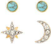 Juicy Couture Pave Deco Star Stud Earring Set