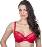 Alegro Innocent Lily Sheer Unlined Plunge Bra 9005A -RED