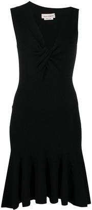 Alexander McQueen Asymmetric Neck Knitted Dress