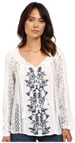 O'Neill Holland Woven Embroidered Sleeved Top