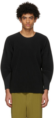 Homme Plissé Issey Miyake Black Monthly Colors January Long Sleeve T-Shirt