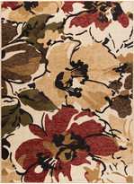 BEIGE Tayse Rugs Cali Contemporary Floral Rectangle Area Rug, 7.6' x 10'
