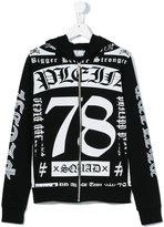 Philipp Plein logo print hoodie - kids - Cotton - 16 yrs