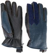 Addict Clothes Japan - bicolour gloves - men - Sheep Skin/Shearling/Polyester - L