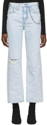 Rag & Bone Blue Ruth Super High-Rise Jeans