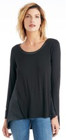 Sole Society Silk Longsleeve Swing Tunic