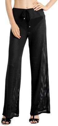 Jordan Taylor Women's Sheer Wide-Leg Cover Up Pants