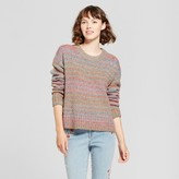 Mossimo Women's Variegated Pullover Sweater Pink