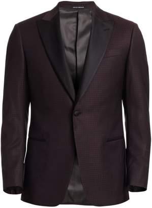 Emporio Armani Print Wool Dinner Jacket