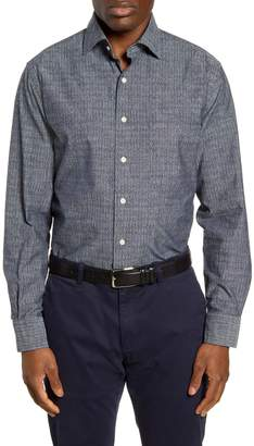 Peter Millar Regular Fit Arrowhead Chambray Button-Up Shirt