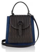 Meli-Melo Floriana Mini Cross Body Bag Denim and Black Woven