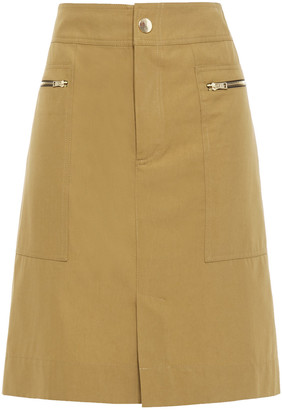 Vanessa Bruno Zip-detailed Cotton-blend Twill Skirt