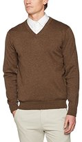 Gant Men's LT. Weight Cotton V-Neck Jumper,XXL