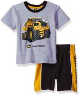 John Deere Baby Boys' Construction Short Set